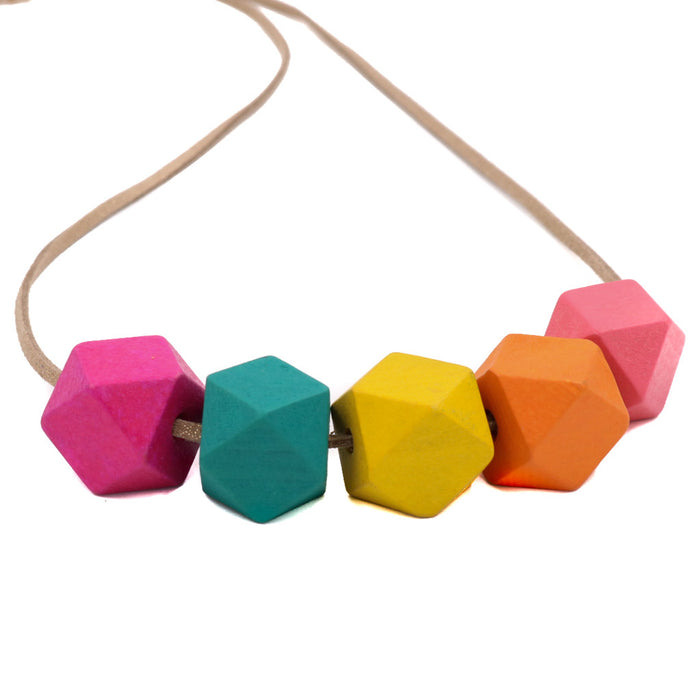 BACK IN STOCK: Handmade Colorpop Geometric Necklace II (#7) - Restocked
