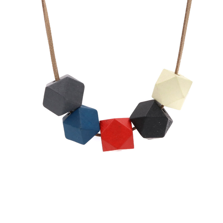 Handmade Colorpop Geometric Necklace II (#8)