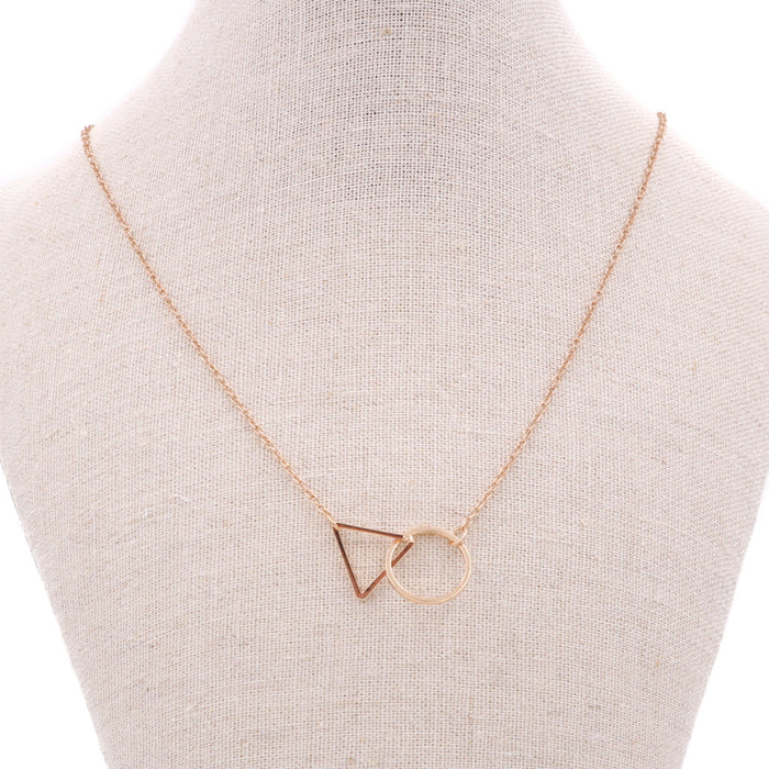 Kylie Minimalist Geometric Necklace