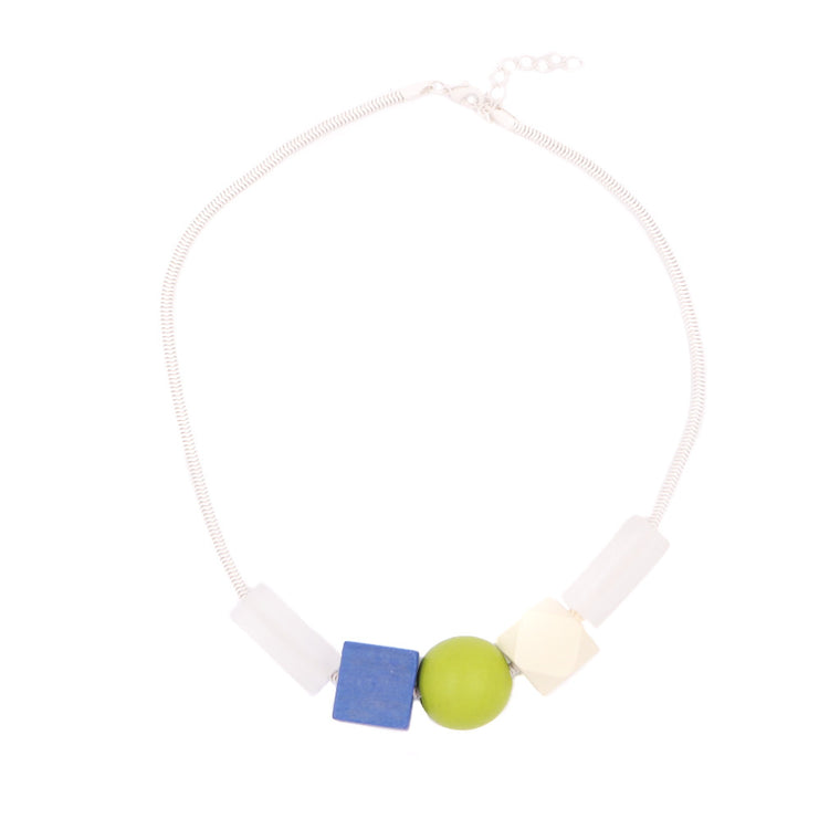 Hillary Geometric Necklace - Blue