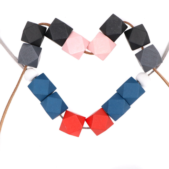 Handmade Modes Block Necklace in USA