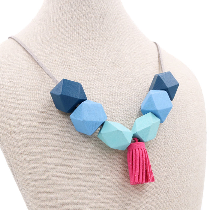 Handmade Colorpop Necklace ft. Tassels (#1)
