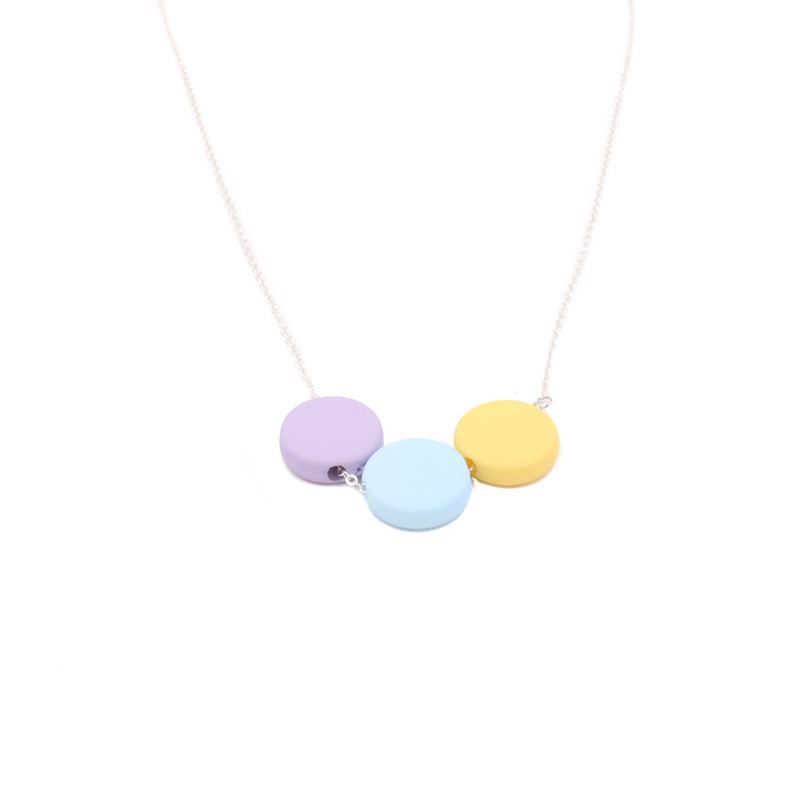 Handmade Ice Cream Pop Geometric Necklace in Mini Blue Moon