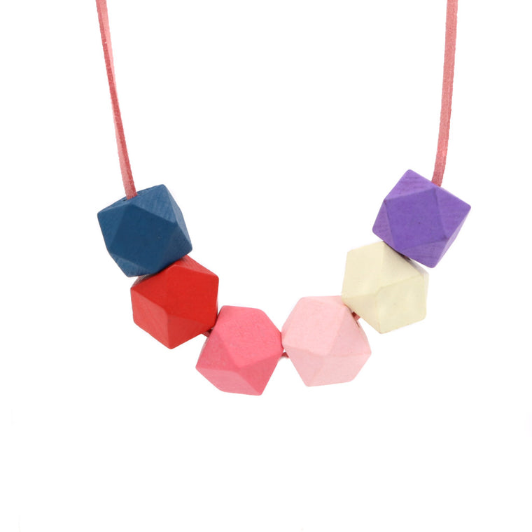 Handmade Colorpop Geometric Necklace II (#9)