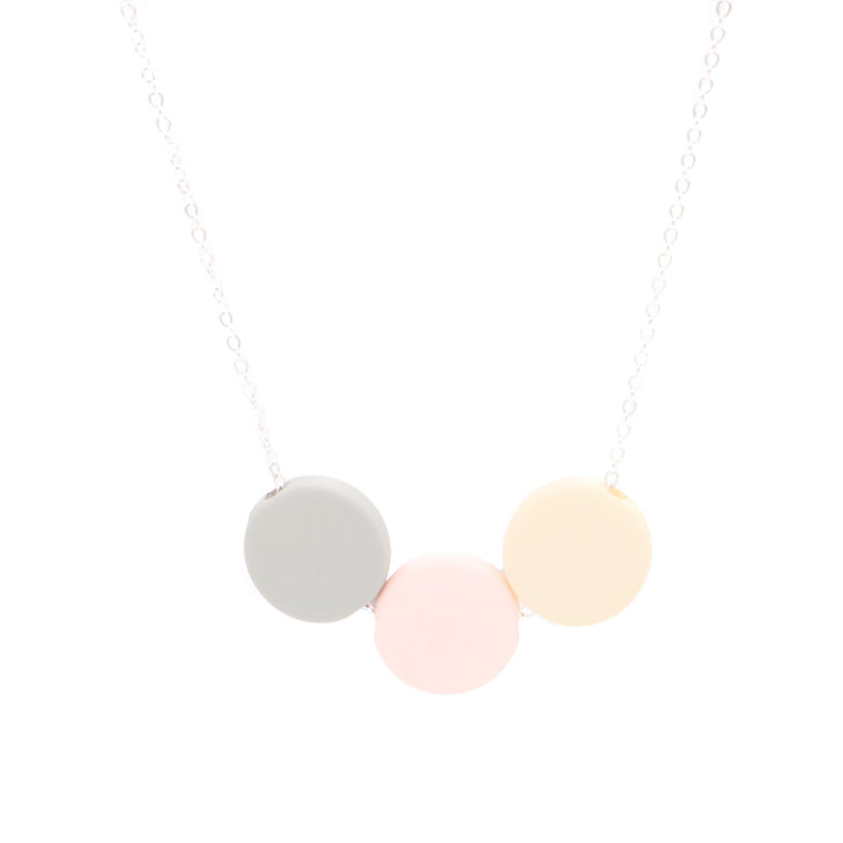 Handmade Ice Cream Pop Geometric Necklace in Mini Moon Pink - Restocked