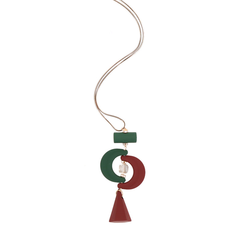 Clarissa Boardroom Necklace in Crescent Lantern