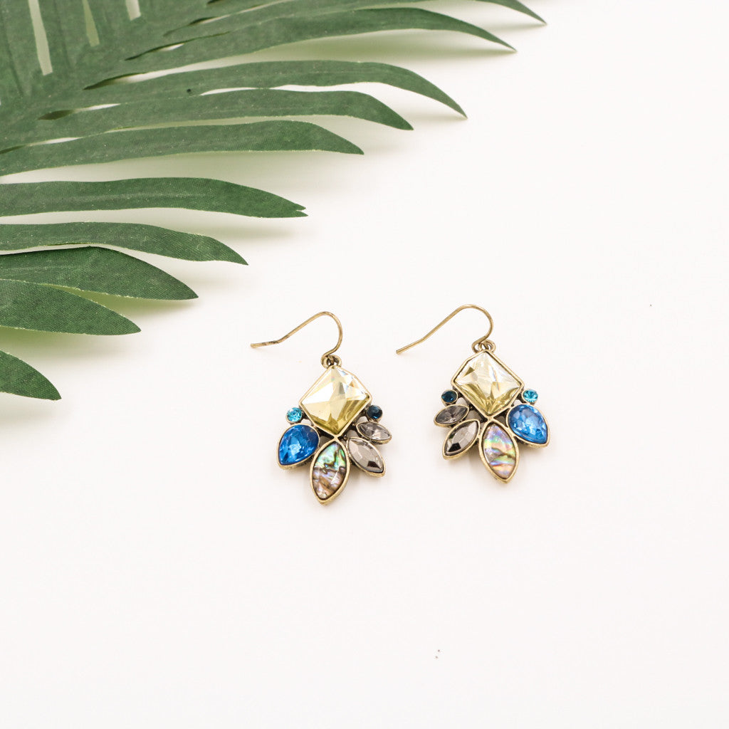 Gracie Gems Drip Earrings in Golden Beryl