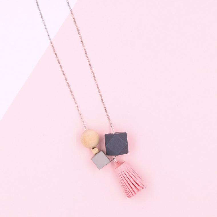 BACK IN STOCK: Handmade Mixie Pop Necklace in Pretty Pink - Restocked