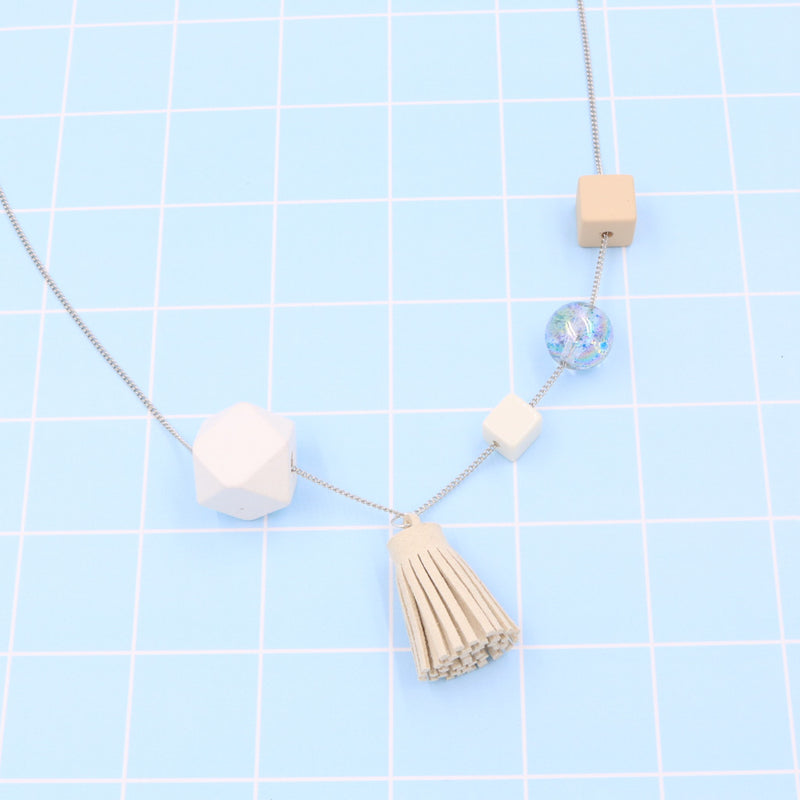 BACK IN STOCK: Handmade Mixie Pop Necklace in Creamy White - Restocked
