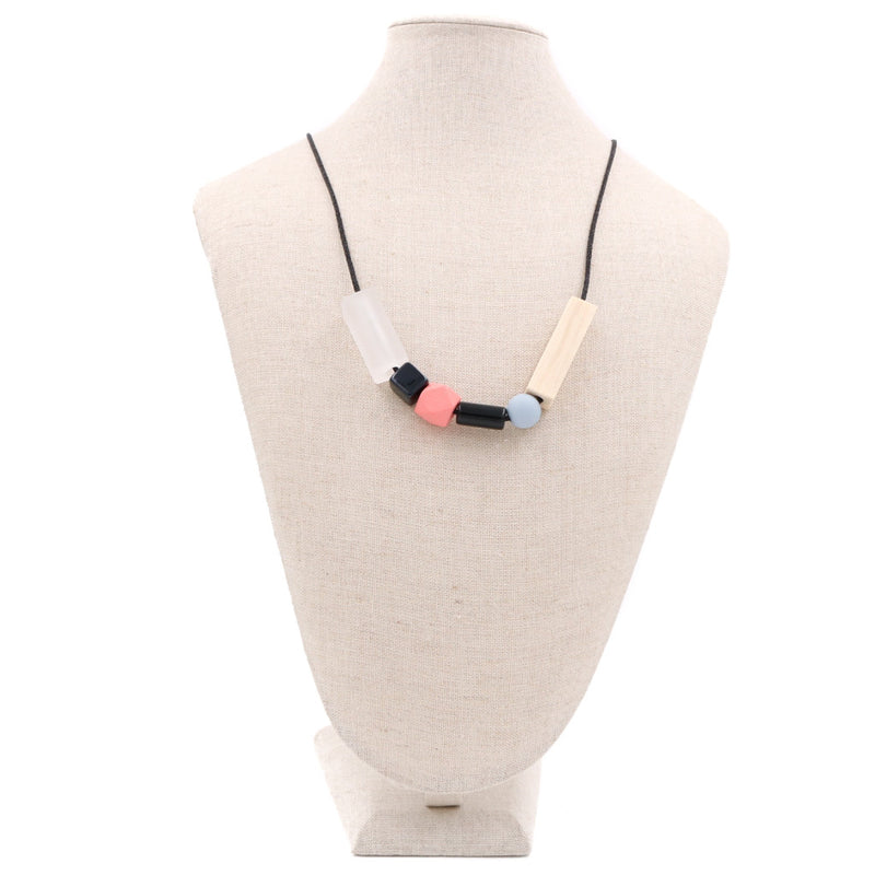 Handmade Toy Block Necklace in Sweet Peach