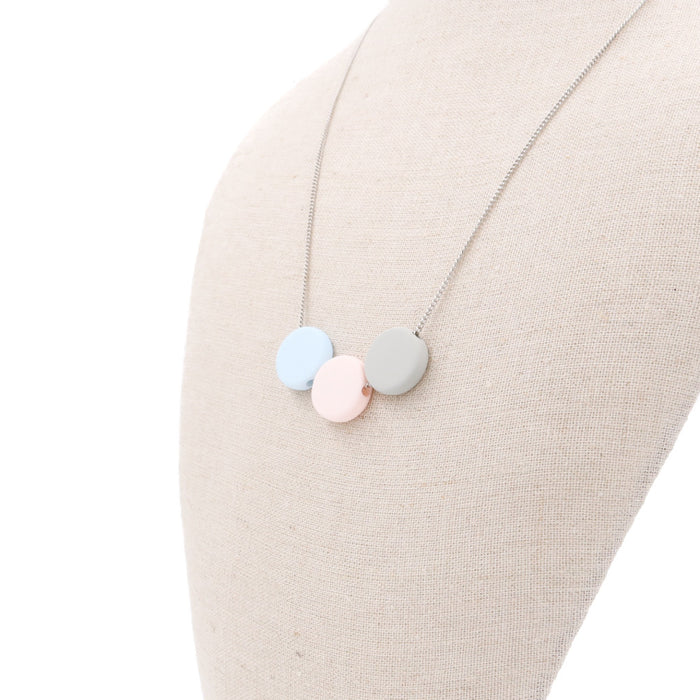 Handmade Ice Cream Pop Geometric Necklace in Neapolitan