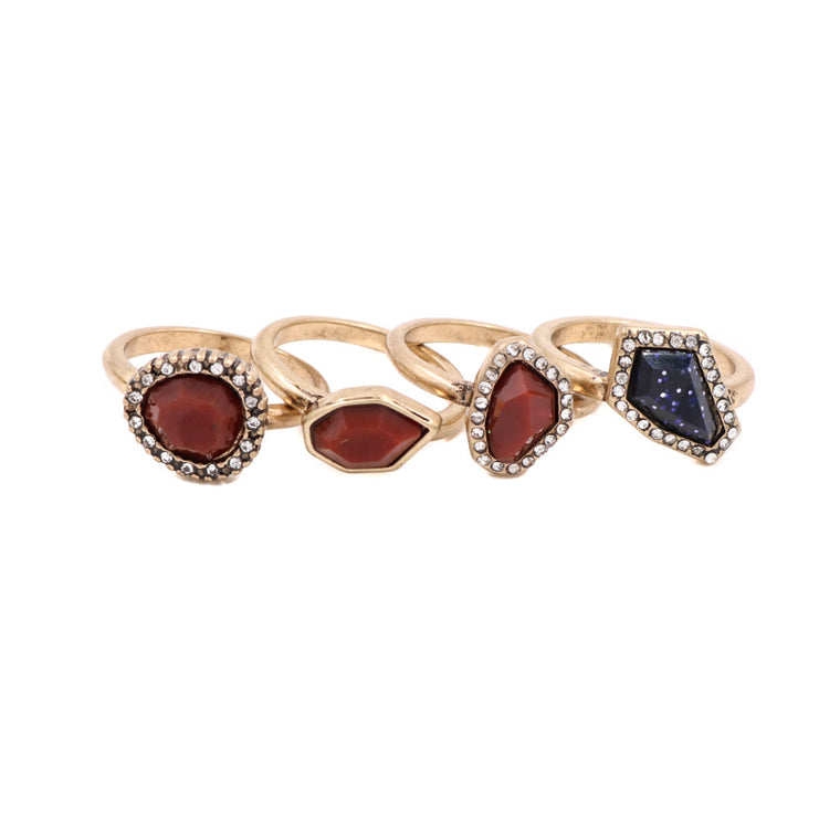 Audrey Vintage Stack Rings - Set of 4