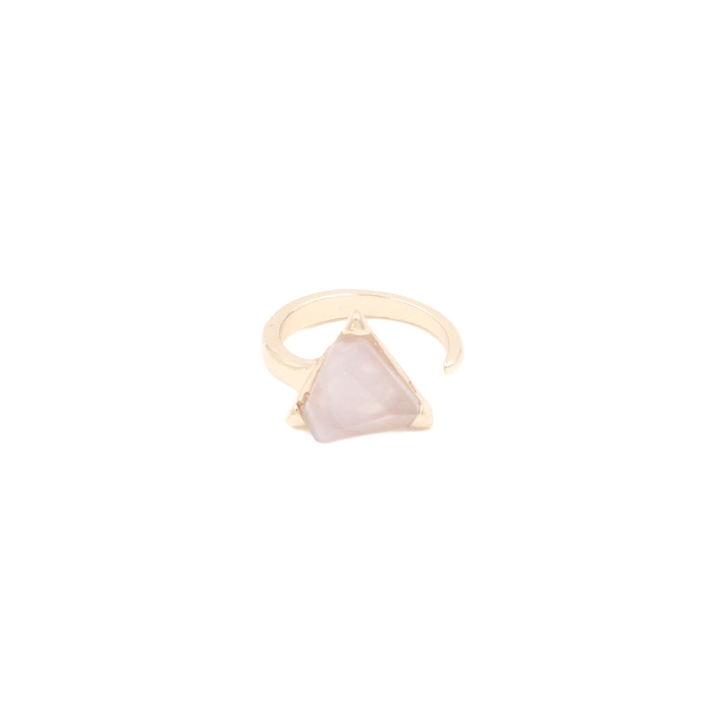 Aurelia Triangle Minimalist Ring in Very Pale Pink