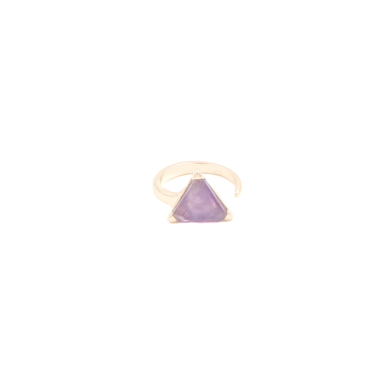 Aurelia Triangle Minimalist Ring in Purple