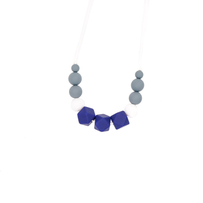Melanie Beads Necklace in Primary Blue