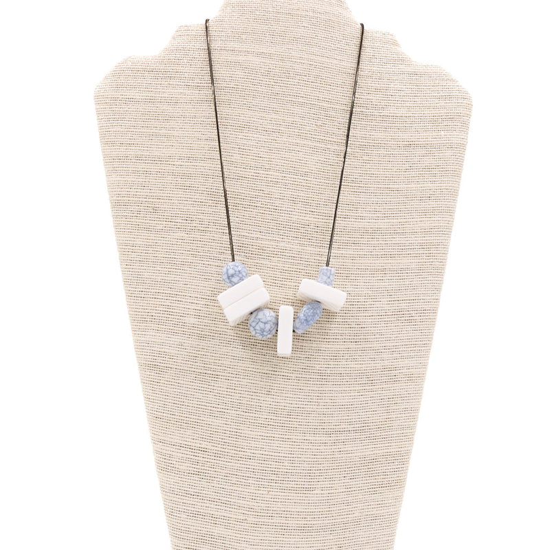 Valencia Marble Geometric Necklace