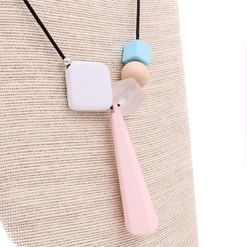 Handmade Mixie Pop Geometric Necklace in Sweet Pastels