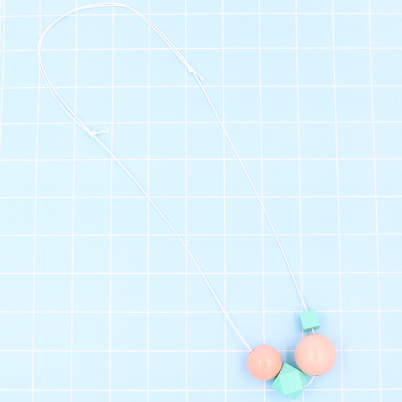 Handmade Summer Pop Necklace in Sunday Tiffany