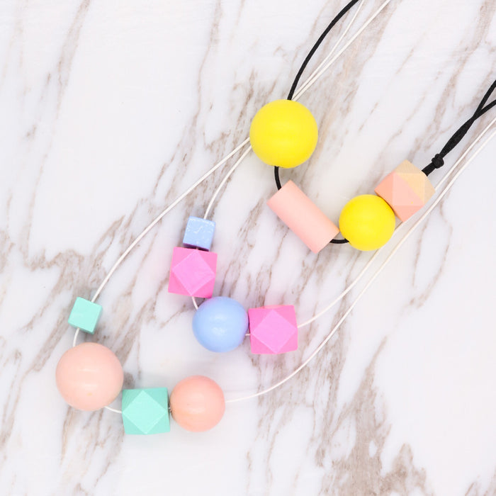 Handmade Summer Pop Necklace in Pink Love