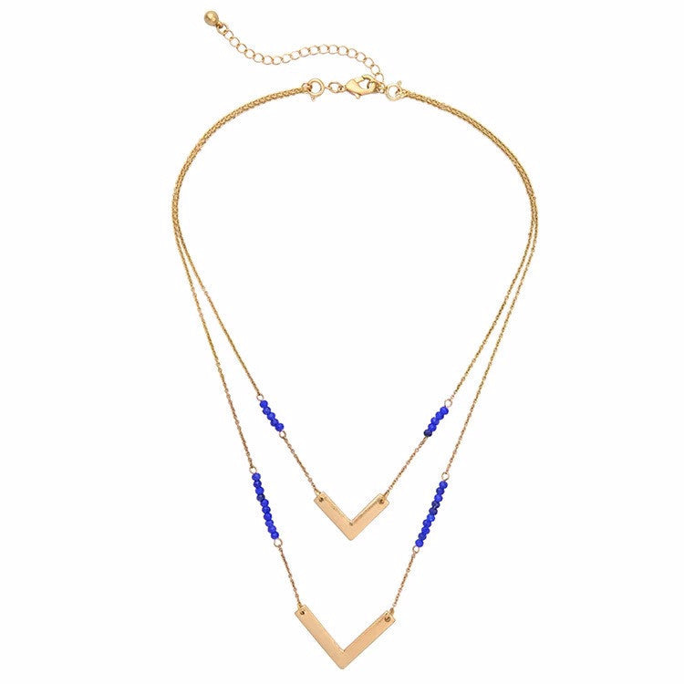 Helena Royal Blue Layered Necklace