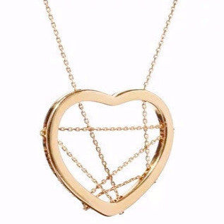 Interlaced Gold Heart Necklace
