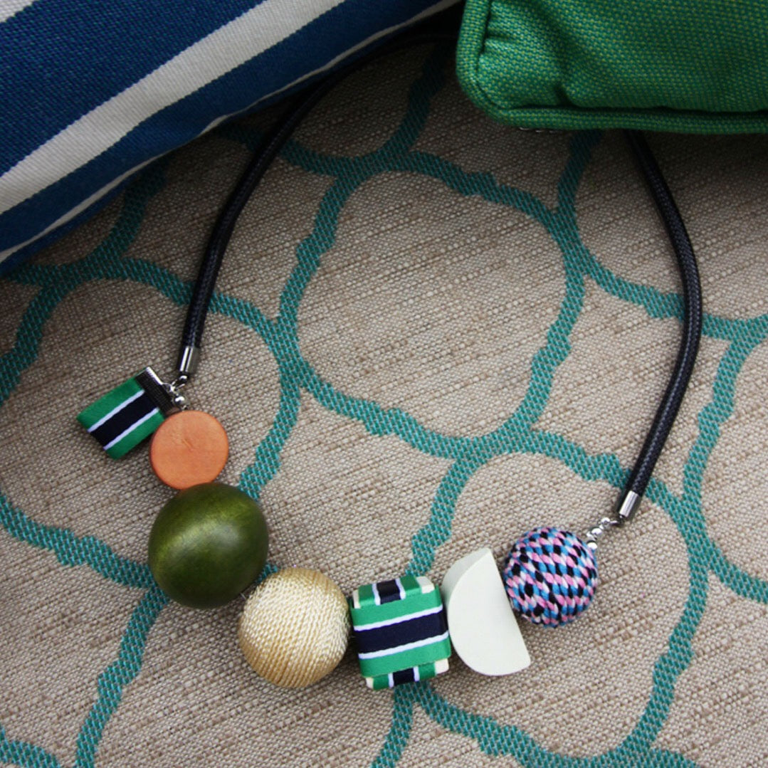 Tribeca Necklace in Prosperous Green