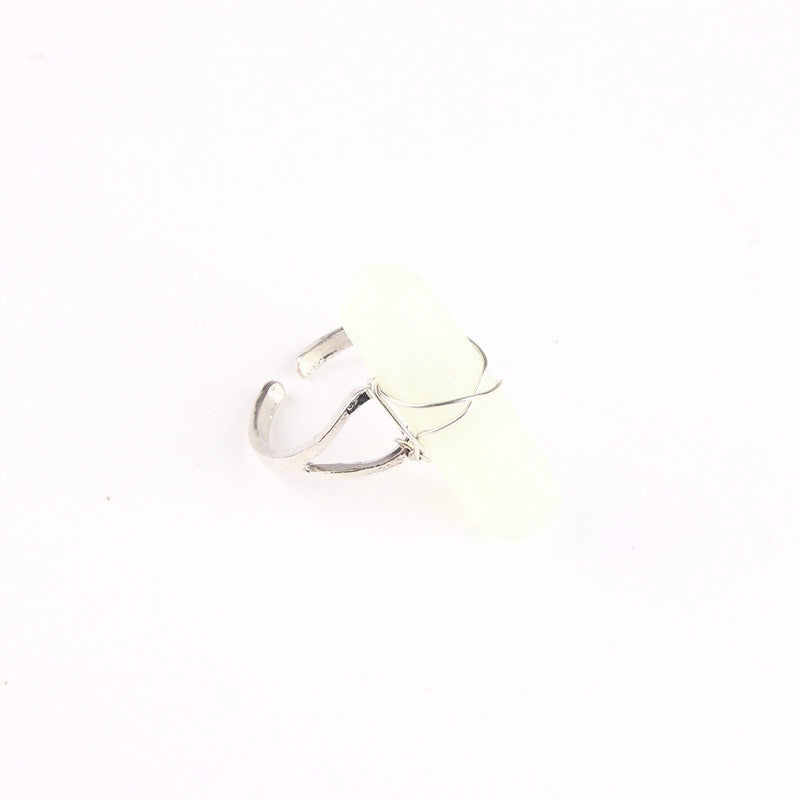 Aurora Quartz Ring - Crystal White