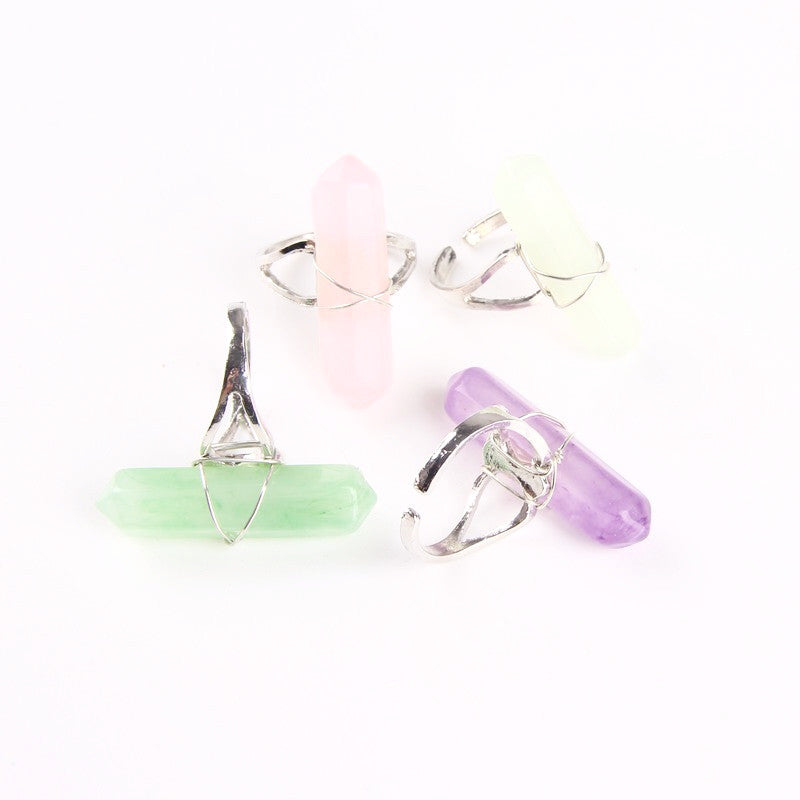 Aurora Quartz Ring - Purple