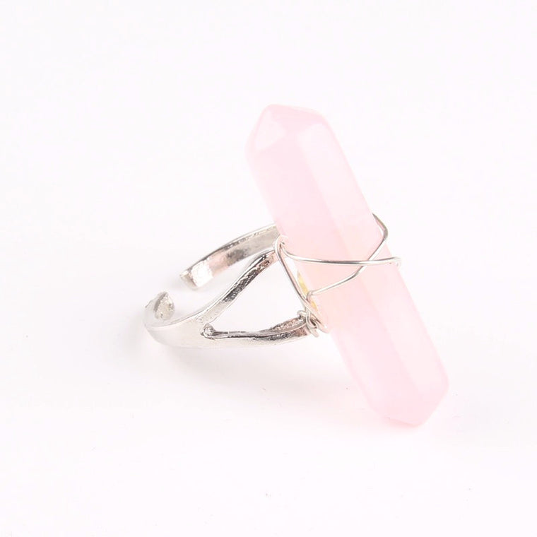 Aurora Quartz Ring - Pale Pink