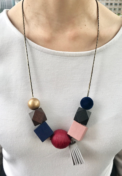 Miffy Geometric Necklace in Oriental Gold