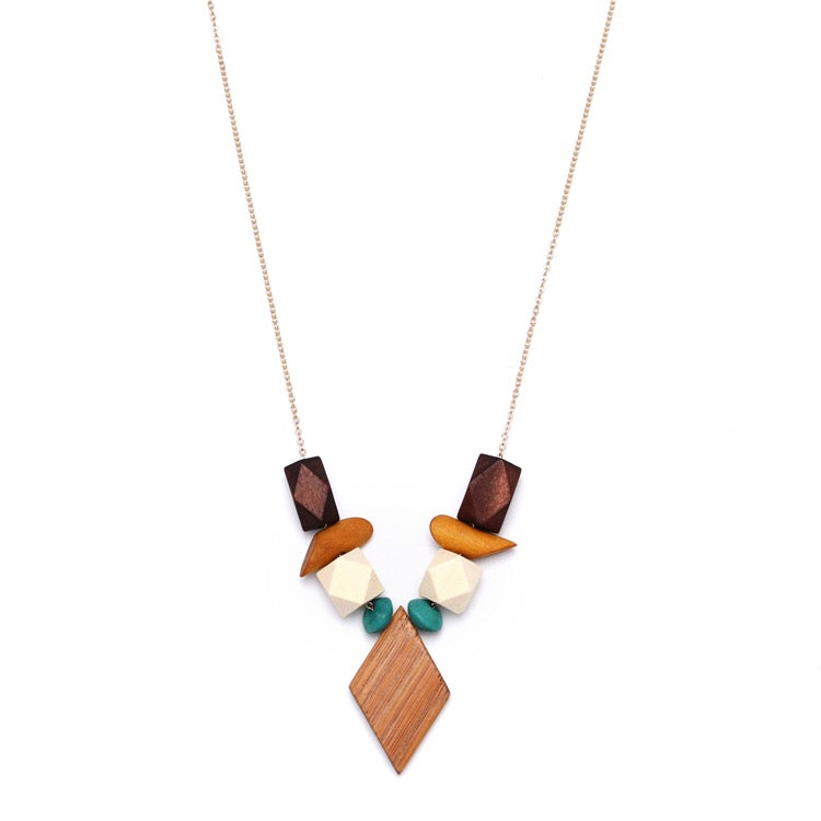 Robyn Wood Geometric Necklace