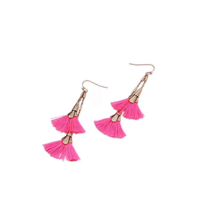 Ayu Fan Tassels Earrings - Limited Online
