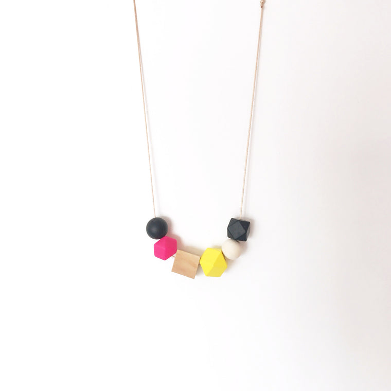Handmade Colorpop Necklace #20 - Georgina Pink