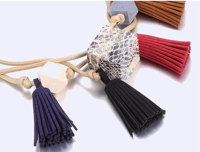 Olia Oversized Tassel Statement Necklace (Limited Edition)