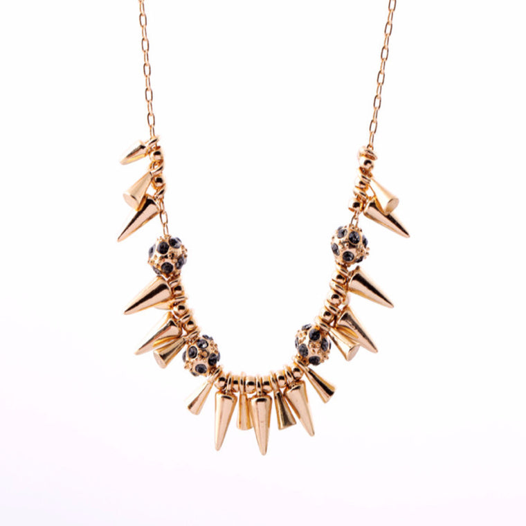Nana Studs & Rocks Necklace in Gold
