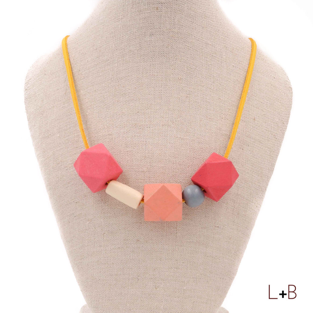 Handmade Colorpop Geometric Necklace (#05) - Restocked
