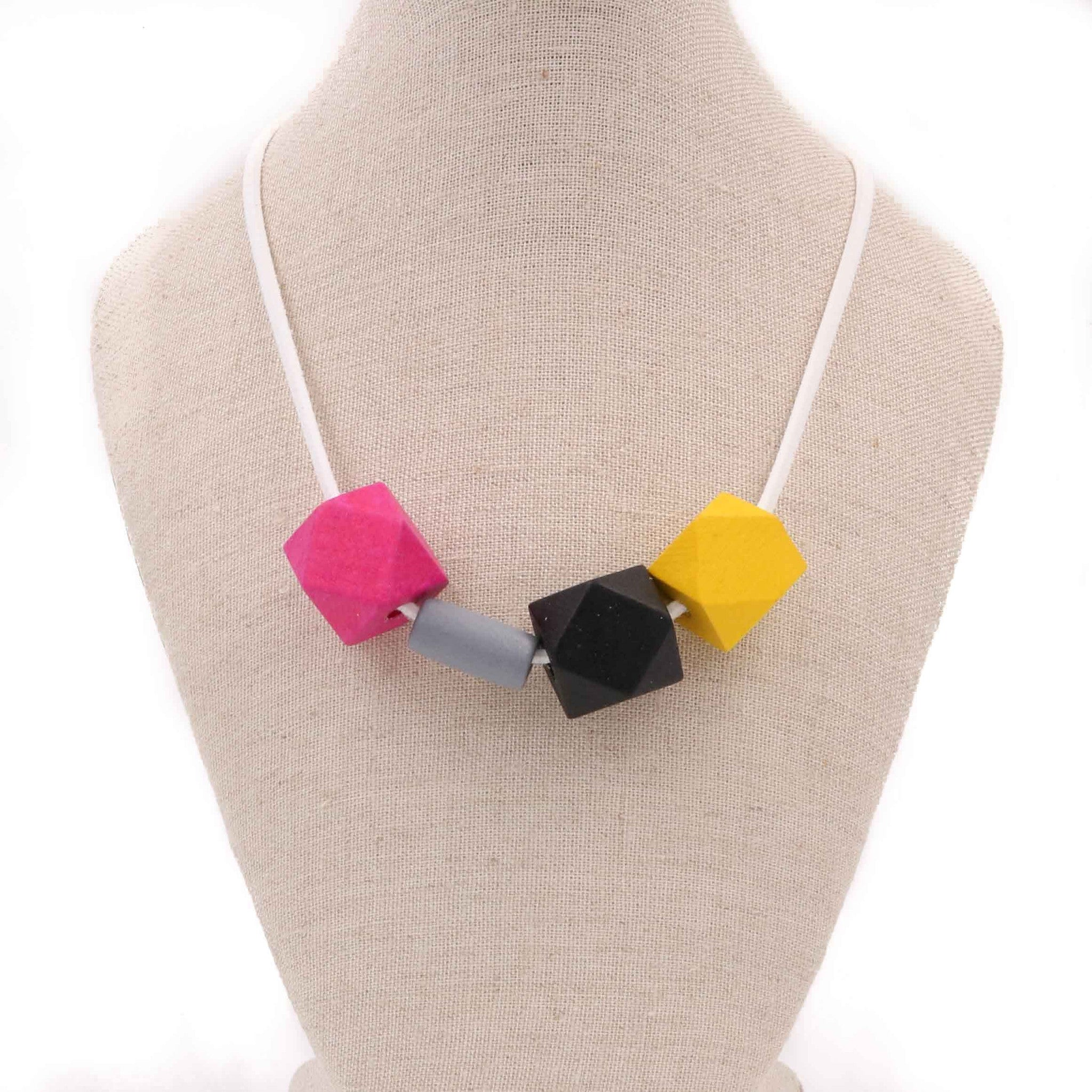 Handmade Colorpop Geometric Necklace (#06) - Restocked