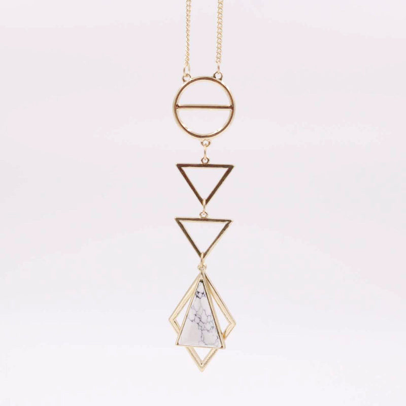 Eden Dangle Marble Necklace