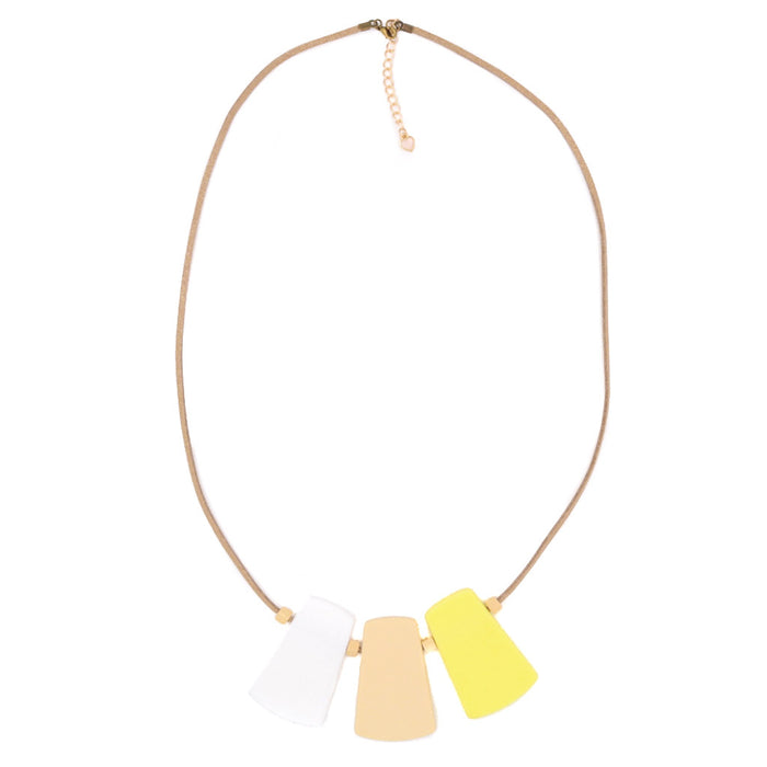 Handmade Paddle Pop Necklace in Vanilla
