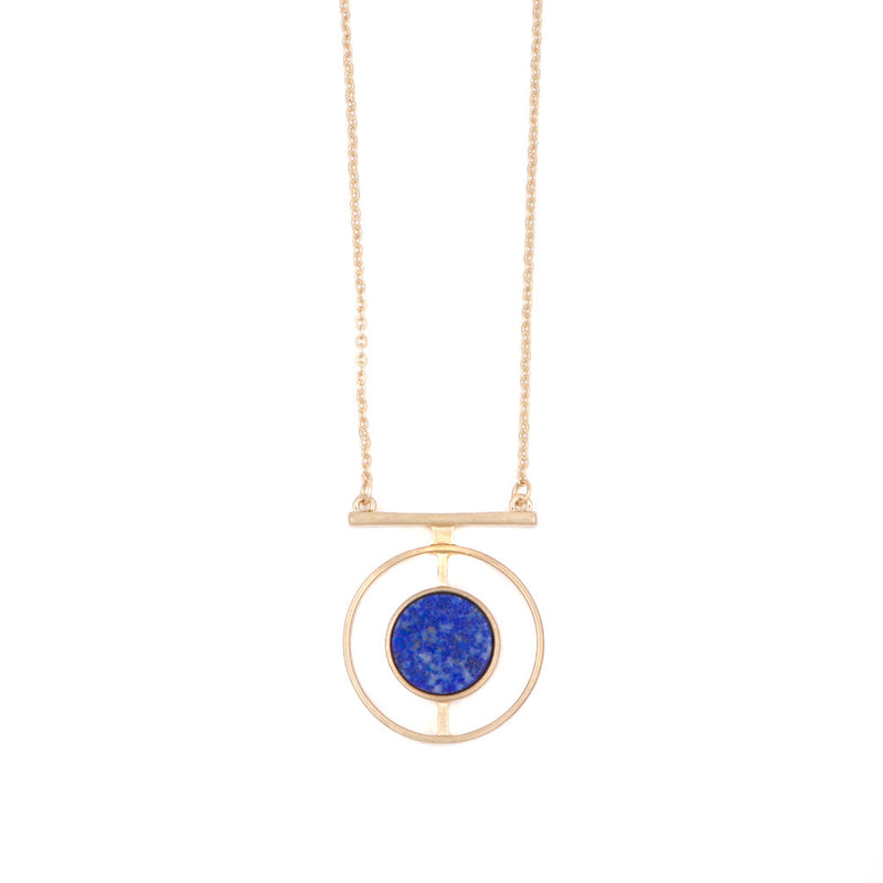 Gaia Necklace in Blue & Gold