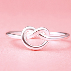 Minimalist Infinity Silver Ring