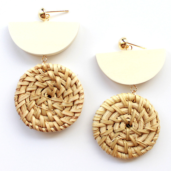 Ning Weave Pendant Earrings