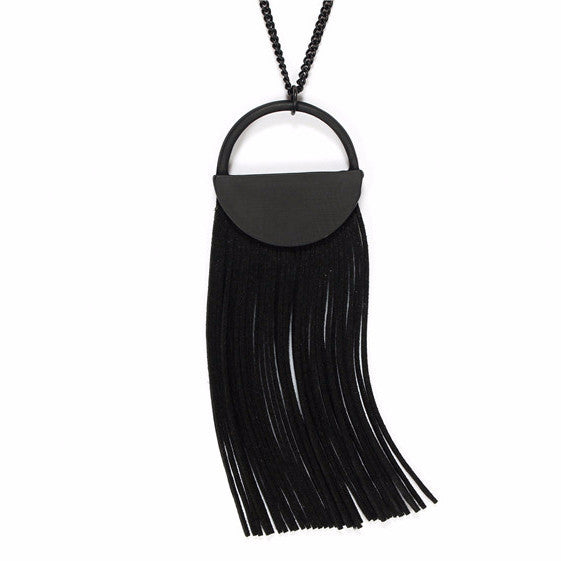 Marilyn Black Leather Necklace