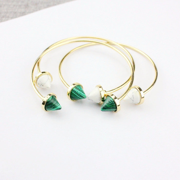 BACK IN STOCK: Joli Sphere Marble Bangle - Green/White/Mixed (Restocked)