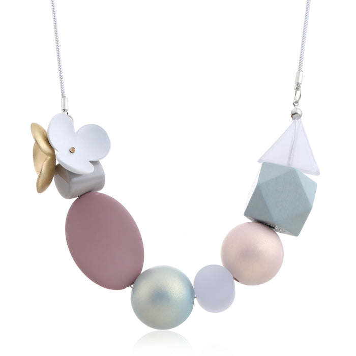 Delia Necklace in Demure Pink