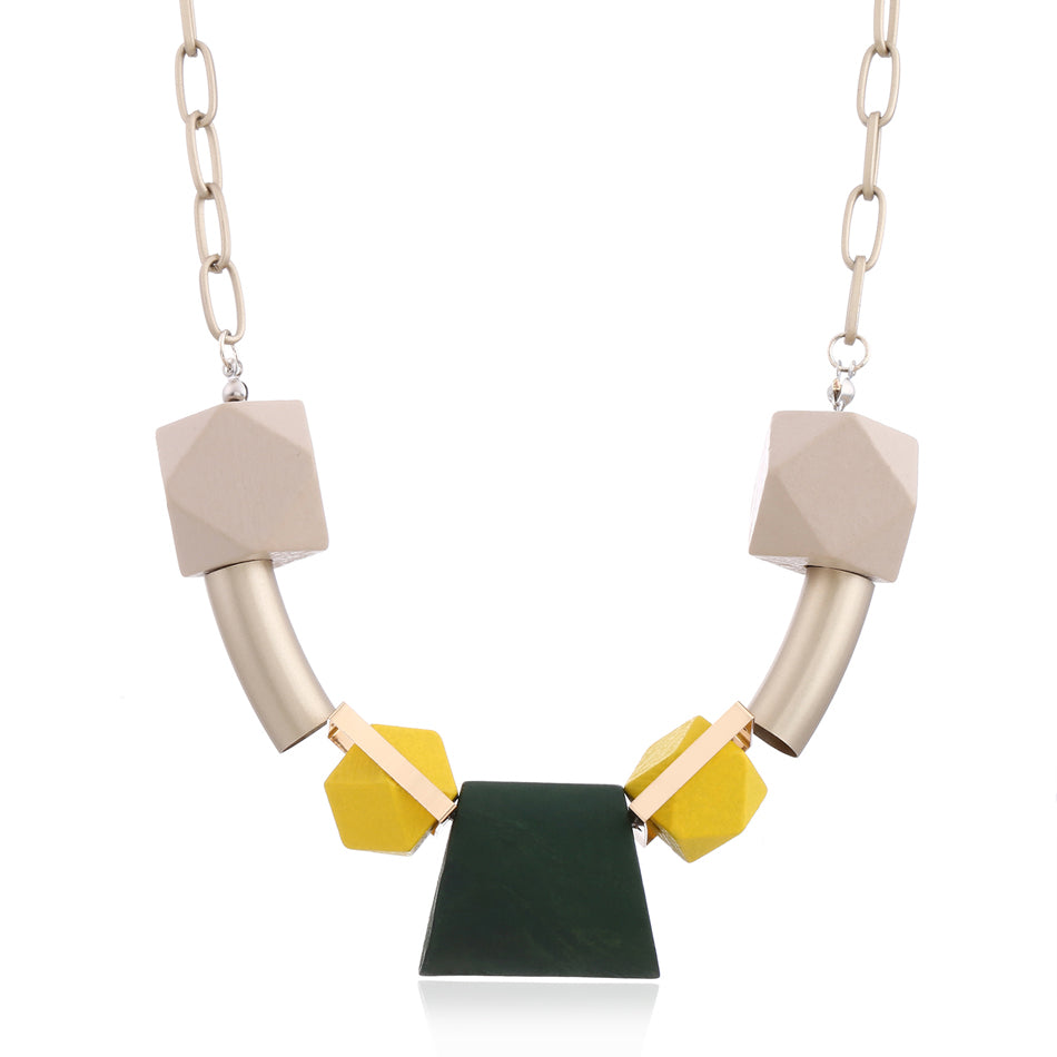 Germaine Necklace in Green Pop