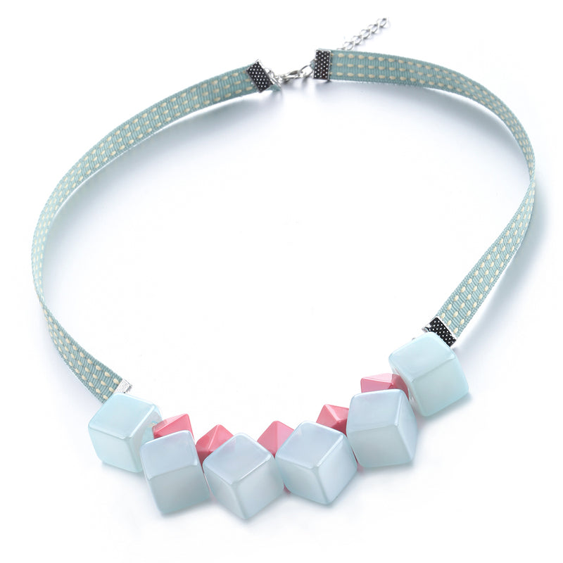 Tessa Necklace in Tiffany Mint