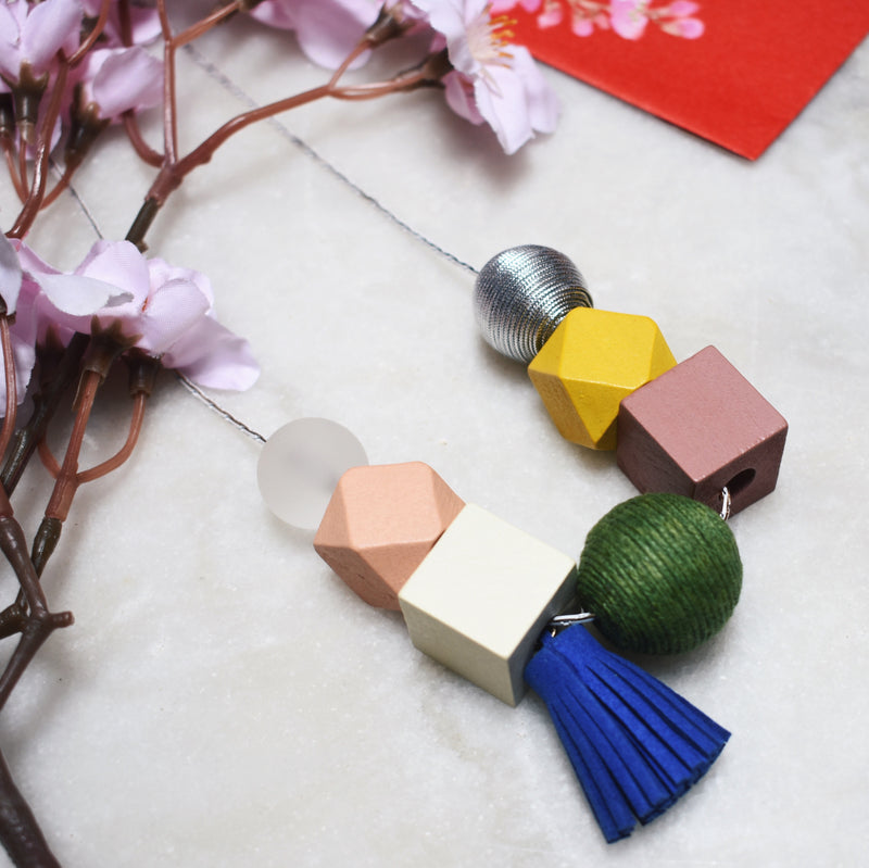 Miffy Geometric Necklace in Spring