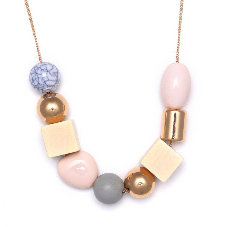 BACK IN STOCK: Lilia Geometric Necklace