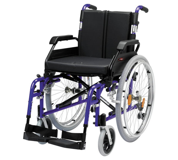 Deluxe Aluminium Self Propelled Wheelchair 18 stone 115kg